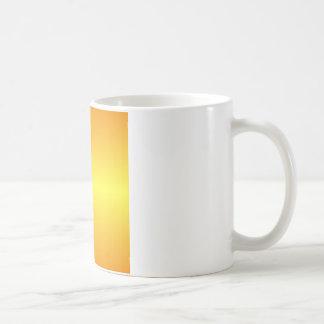 横の電気黄色および蜜柑の勾配 コーヒーマグカップ