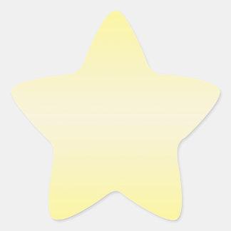 横の黄色2 -バニラおよびカドミウム黄色 星シール
