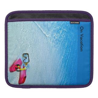 横のiPadのパッドのための休暇のイメージ iPadスリーブ