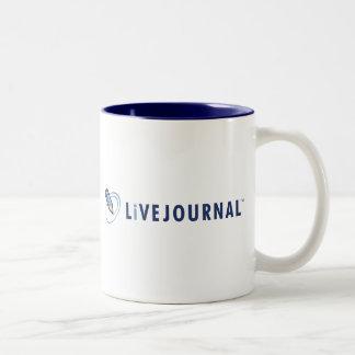 横のLiveJournalのロゴ ツートーンマグカップ