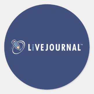 横のLiveJournalのロゴ ラウンドシール