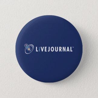 横のLiveJournalのロゴ 5.7cm 丸型バッジ