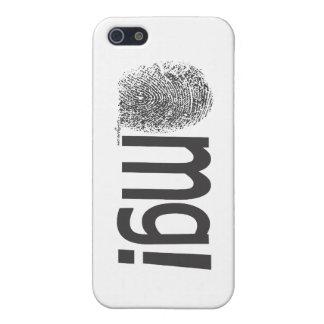 横のomgの指紋の文字 iPhone SE/5/5sケース