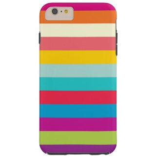 横夏色で縞で飾ります TOUGH iPhone 6 PLUS ケース