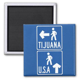 横断歩道ティフアナ米国の交通標識、米国 マグネット