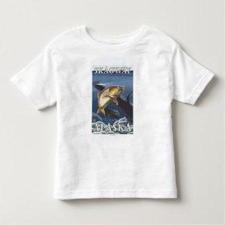横断面- Skagway、アラスカ--を採取しているマス トドラーTシャツ