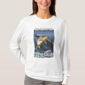 横断面- Skagway、アラスカ--を採取しているマス Tシャツ