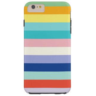 横春色で縞で飾ります TOUGH iPhone 6 PLUS ケース