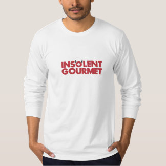 横柄なグルメによって合われる長袖のティー Tシャツ