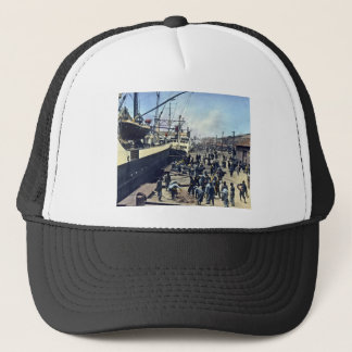 横浜港を出荷する横浜港の日本ヴィンテージ キャップ