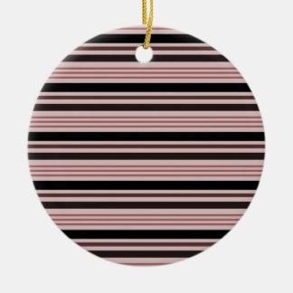横4つを-赤及び黒縞で飾ります セラミックオーナメント