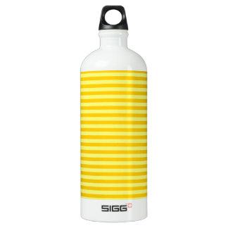 横-黄色および蜜柑の黄色縞で飾ります ウォーターボトル