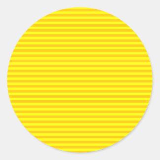 横-黄色および蜜柑の黄色縞で飾ります ラウンドシール