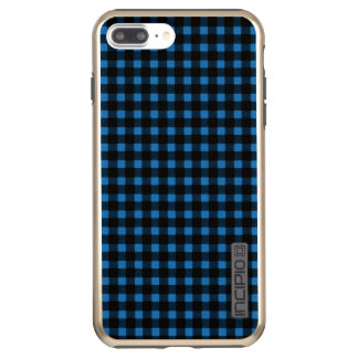 樵のプリントの暗藍色の冬のバッファローの格子縞 INCIPIO DualPro SHINE iPhone 8 PLUS/7 PLUSケース