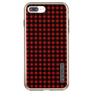 樵のプリントの赤く黒い冬のバッファローの格子縞 INCIPIO DualPro SHINE iPhone 8 PLUS/7 PLUSケース