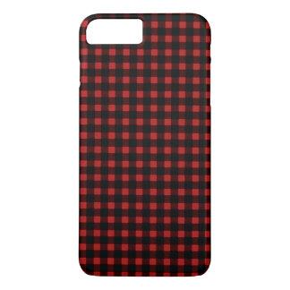 樵のプリントの赤く黒い冬のバッファローの格子縞 iPhone 8 PLUS/7 PLUSケース