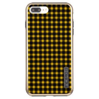樵のプリントの黄色の黒の冬のバッファローの格子縞 INCIPIO DualPro SHINE iPhone 8 PLUS/7 PLUSケース