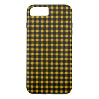 樵のプリントの黄色の黒の冬のバッファローの格子縞 iPhone 8 PLUS/7 PLUSケース