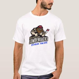 樵の公共のスケートのTシャツ Tシャツ
