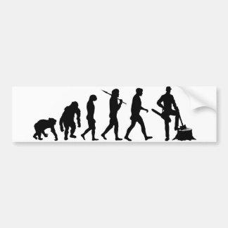 樵の木の男の自動記録器バニヤンの進化 バンパーステッカー