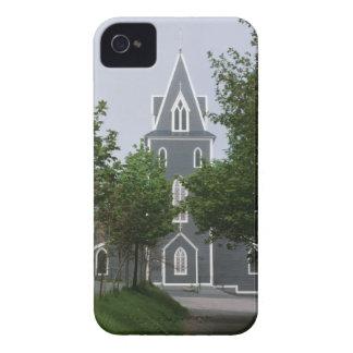 樹木が茂ったチャペル、ニューファウンドランド、カナダ Case-Mate iPhone 4 ケース