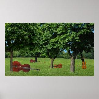 樹木が茂った弦楽四重奏 ポスター