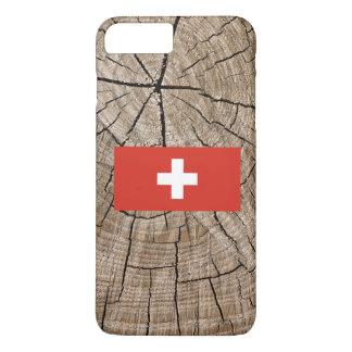 樹皮のスイスの旗 iPhone 8 PLUS/7 PLUSケース
