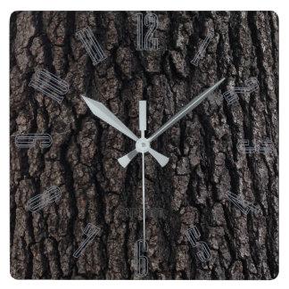 樹皮の人洞窟 スクエア壁時計