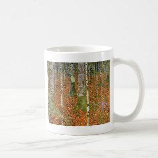 樺の木が付いている農家 コーヒーマグカップ