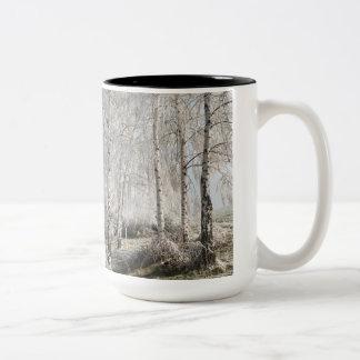 樺の木のスウィンガーがあって下さい ツートーンマグカップ