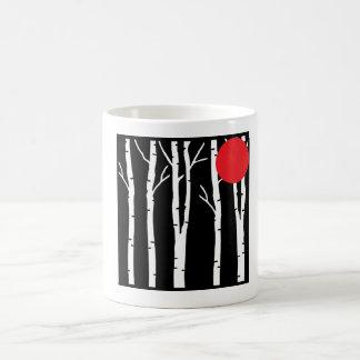 樺の木のモダンなコーヒー・マグ コーヒーマグカップ