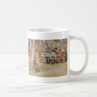 樺の木の下の朝食 コーヒーマグカップ