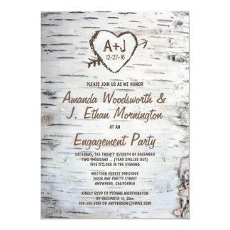 樺の木の吠え声の婚約パーティの招待状 12.7 X 17.8 インビテーションカード