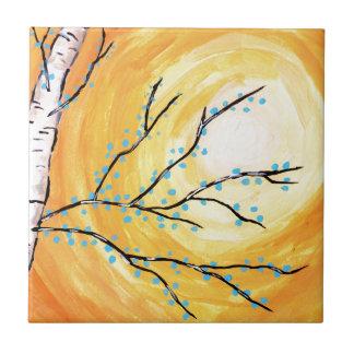 樺の木の咲くこと タイル
