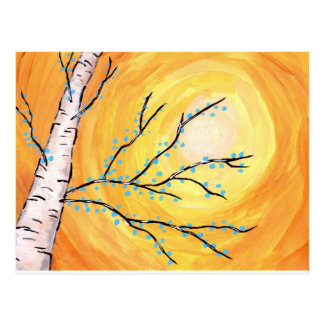 樺の木の咲くこと ポストカード