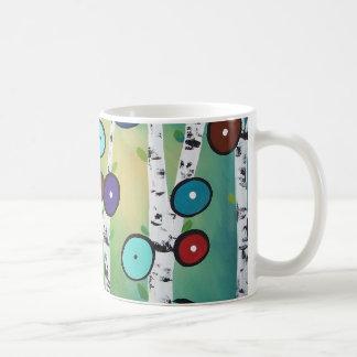 樺の木の景色の芸術のイメージ コーヒーマグカップ