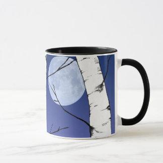 樺の木の月のマグ マグカップ
