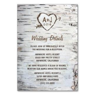 樺の木の結婚披露宴 + 調節カード カード