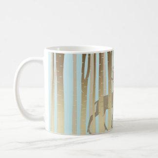 樺の木の雄鹿 コーヒーマグカップ