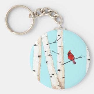 樺の木を持つ(鳥)ショウジョウコウカンチョウ キーホルダー