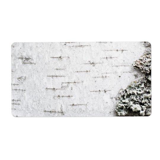 樺の木吠え声 発送ラベル