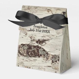 樺の木木結婚祝い箱 フェイバーボックス