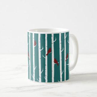 樺の木果樹園のコーヒー・マグの鳥 コーヒーマグカップ