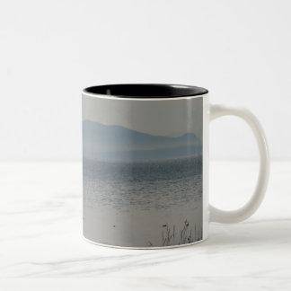 樺の木湾からのシャチの島 ツートーンマグカップ