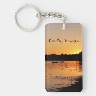 樺の木湾の日没 キーホルダー