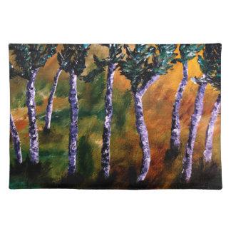 樺の木|森林|ランチョンマット ランチョンマット