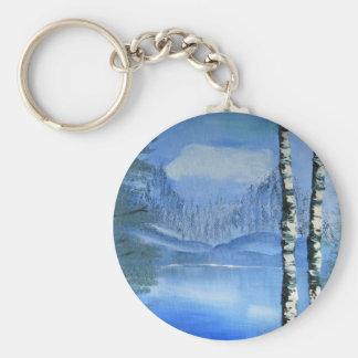 樺の木Keychain キーホルダー