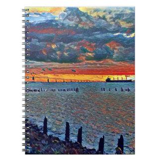 橋および海のノート ノートブック