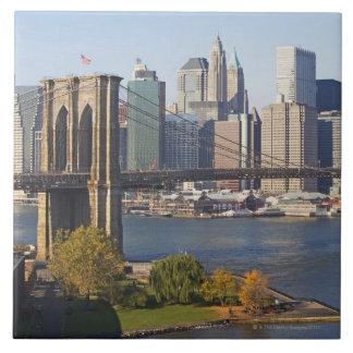 橋および都市景観 正方形タイル大