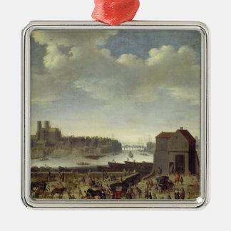 橋およびQuai de la Tournelleの眺め メタルオーナメント